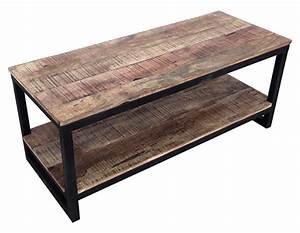 Meuble Hifi Bois : meuble tv factory bois vieilli l 110 x h 45 x p 45 ~ Voncanada.com Idées de Décoration