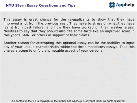 nyu essay 3 exles