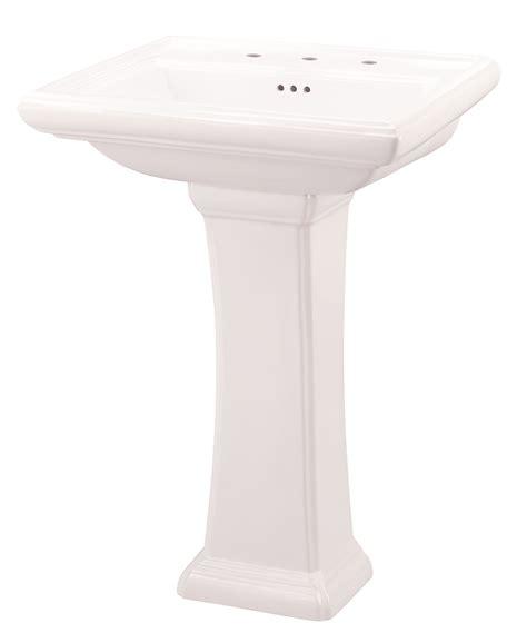 logan square 4 quot centers petite pedestal bathroom sink
