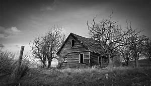 Black And White Farm House Photograph by Steve McKinzie