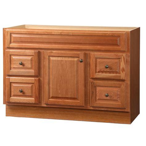 oak bathroom vanity cabinets glacier bay casual 48 in w x 21 in d x 33 5 in h vanity