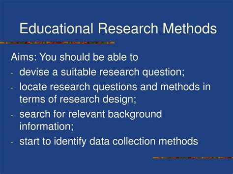 educational research methods powerpoint