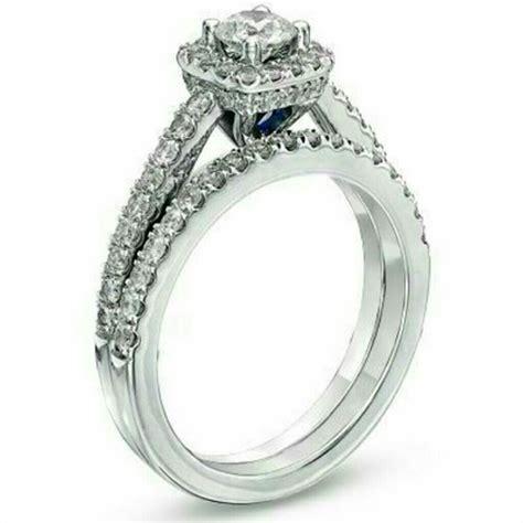 vera wang jewelry ct diamond frame bridal set  white