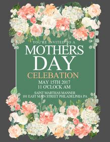 customizable design templates  mothers day flyer