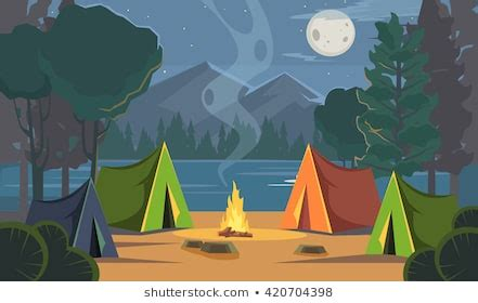 Camping Cartoon Images, Stock Photos & Vectors | Shutterstock