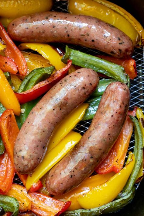 fryer sausage air recipe peppers recipes kielbasa keto links rice stuffed sandwich sausages whole roll dinner cogimia