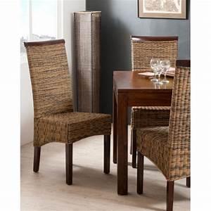Chaise rotin bi couleur meubles macabane meubles et for Deco cuisine pour meuble en rotin