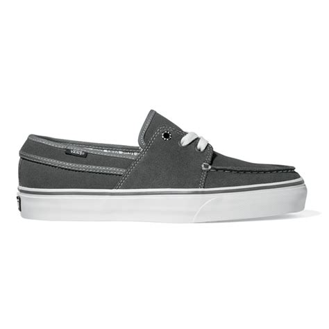 Vans Hull Boat Shoes by Vans Hull Suede Boat Shoes In Charcoal Black White Ebay