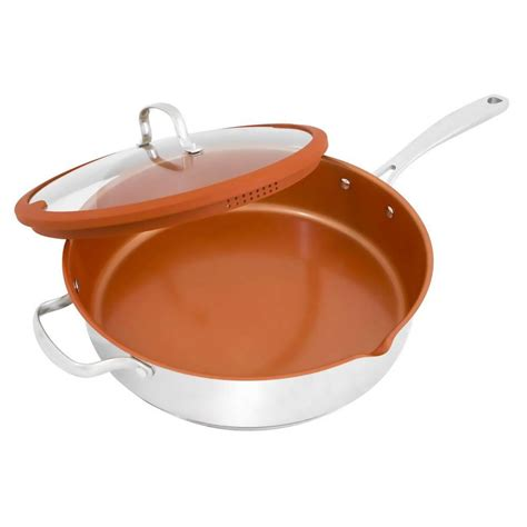 copper skillets reviews nuwave stainless steel saute pan with lid 31188 the home