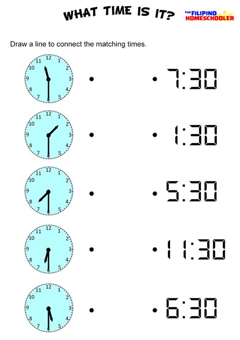 telling time to half hour worksheets worksheets for all