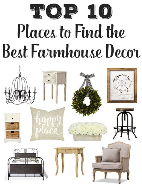Top 10 Places To Find The Best Farmhouse Furniture & Decor