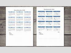 Mondkalender 2018 & 2019 zum Ausdrucken als PDFDatei