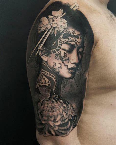 maksim melnik  sleeve tattoo ideas japanese geisha tattoo sleeve tattoos  women