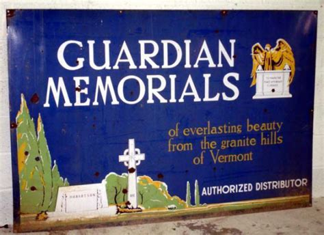Guardian Memorials Porcelain Sign  Antique Porcelain Signs. Reaction Signs Of Stroke. Instant Printable Coupons. Spray Painting Decals. Hwcdn Libsyn Signs Of Stroke. Electronic Banners. Pimple Signs. Yay Signs. Molecule Logo