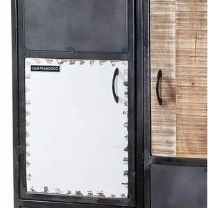 Schrank Metall Holz : schrank highboard im industriedesign aus metall holz in schwarz wei ~ Indierocktalk.com Haus und Dekorationen