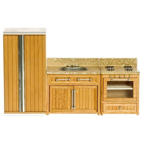 dollhouse kitchen accessories oak kitchen appliance dollhouse miniature set collector 3420