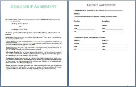 dealership agreement  signed   parties