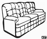 Sofa Coloring Seater Pages Three Household Printable Oncoloring sketch template