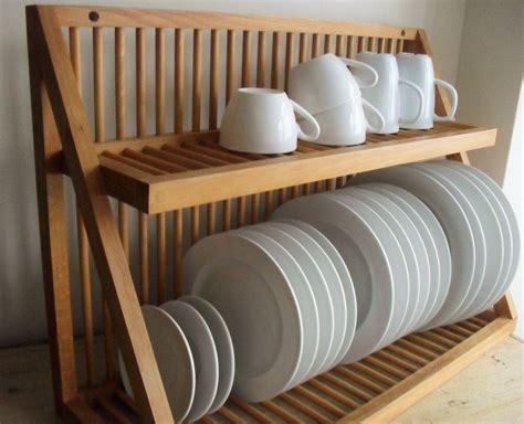 reserved  aoak plate rack vintage wooden plate storage