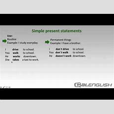 Simple Present Statements Youtube