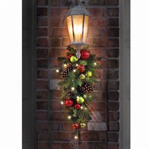 the cordless prelit ornament teardrop sconce outdoor christmas decoration ebay