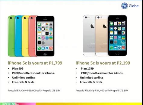 iphone plan globe iphone 5s and 5c plans announced www unbox ph