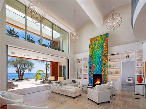 Post Modern Home Style : Post-modern Contemporary Oceanfront Mansion In Santa