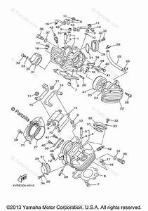Yamaha Motorcycle 2007 Oem Parts Diagram For Cylinder Head