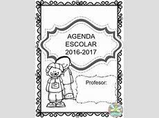 Bonita agenda escolar en blanco y negro para el ciclo 2016