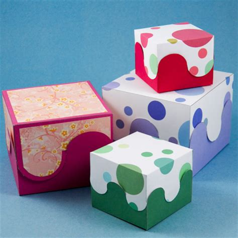interlocking curves box boxes  bags