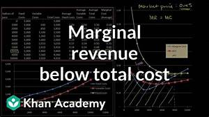 Marginal Revenue Below Average Total Cost