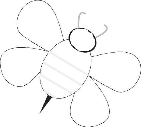 bumble bee template baby bees house free bee templates basic bee and hive shapes