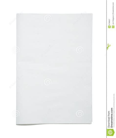 blank newspaper frontpage royalty  stock photography
