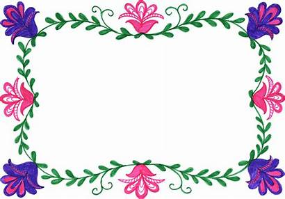 Frame Flower Colorful Rectangle Transparent Onlygfx Px