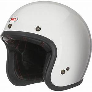 Bell Custom 500 White Motorcycle Helmet Scooter Jet ...