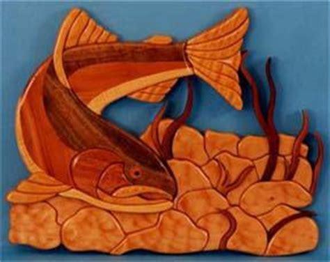 rainbow trout intarsia pattern scrollsawcom