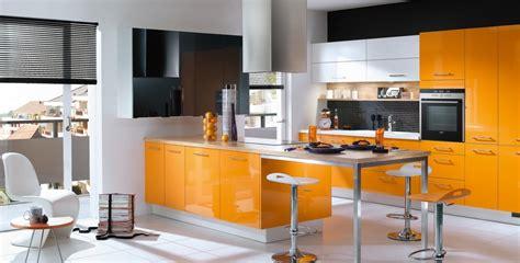 cuisine en orange cuisine orange et photo 3 25 la peinture laquée