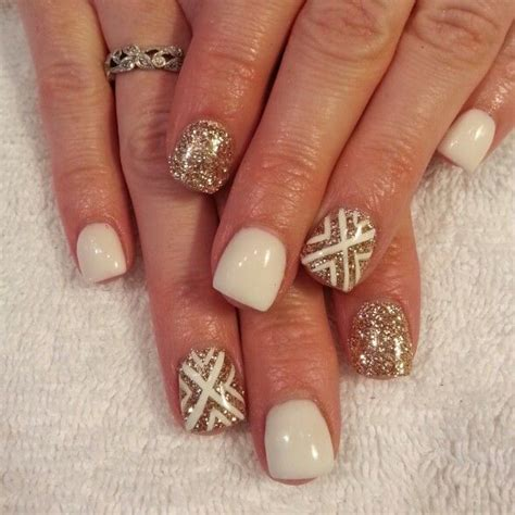 gold nail designs 17 eye catching nail designs with gold glitter fashionsy