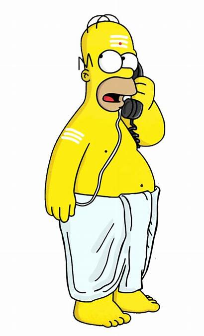 Simpson Simpsons Indian Homer South Iyer Into