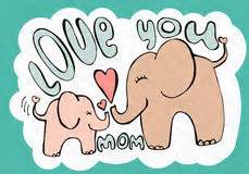 Happy Elephant Mother's Day Card Stock Vector ...