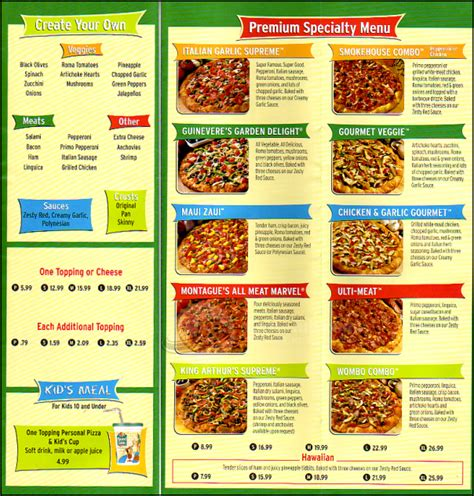 round table pizza menu prices round table pizza menu coupons mega deals and coupons