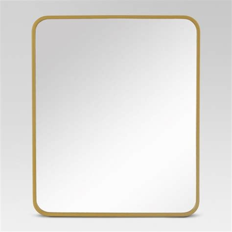rectangular wall mirrors decorative decorative rectangular wall mirror brass project 62 target
