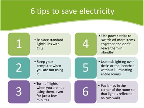 Electricity Consumption And Saving Tips