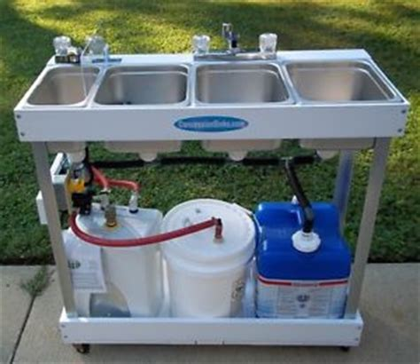 Concession Trailer Sinks Water Tanks by Sink Mobile Concession 3 Compartment Water Large Basin
