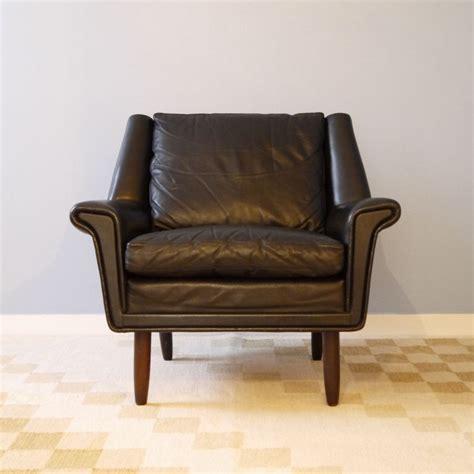 fauteuil vintage danois cuir la maison retro