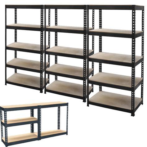 tier metal shelving shelf storage unit garage