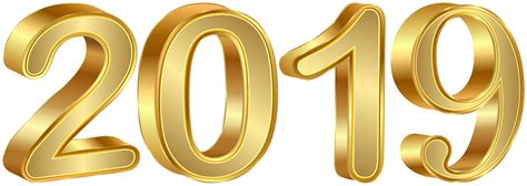 2019 Gold Png Clipart Image