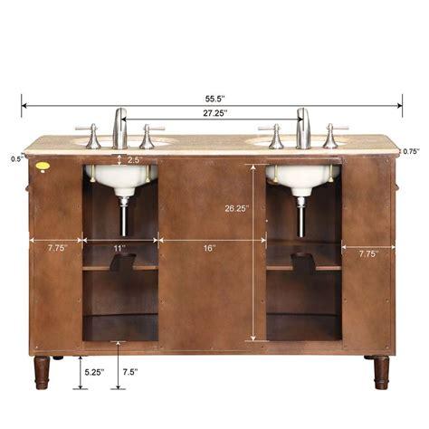 55 double sink vanity 55 quot silkroad cambridge double sink cabinet bathroom