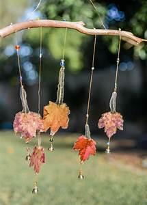 Handmade, Fall, Leaf, Wind-chime, With, Glass, Beads