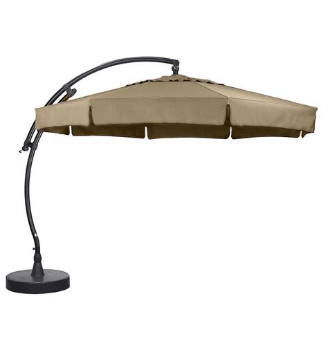 parasol d 233 port 233 sun garden easy sun classique avec volants toile olefin taupe